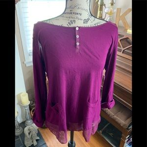 💜 Jessica Simpson size L long sleeve blouse 💜